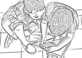 twins-blackwhite_illustrator-s