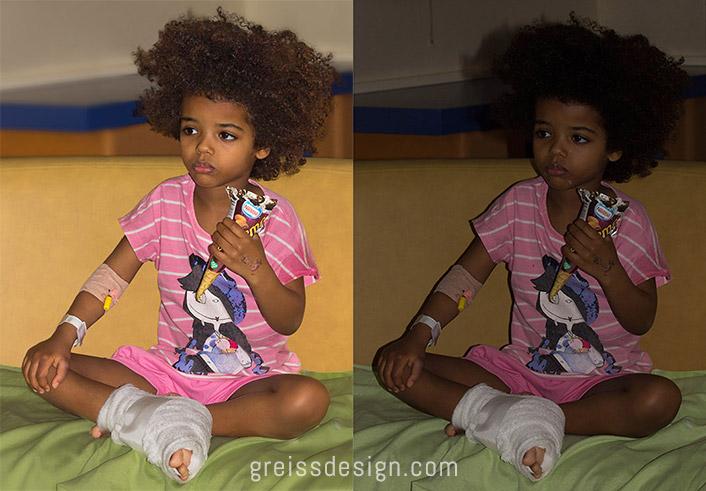 ילדה אתיופית לפני אחרי פוטושופ - Ethiopian girl photography before after-photoshop