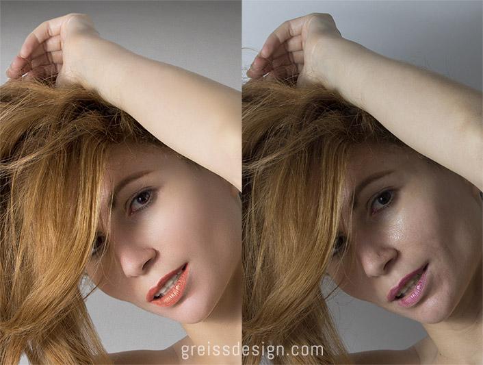 ריטוש בפוטושופ לפני אחרי - Photoshop retouching before after