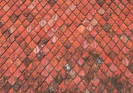 טקסטורה של גג רעפים אדום